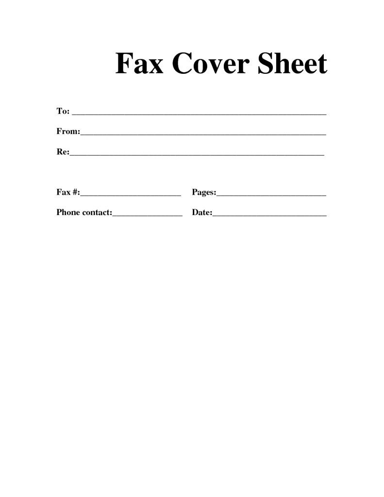 Printable Confidential Fax Cover Letter