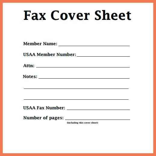 Sample Fax Cover Sheet Letter Format