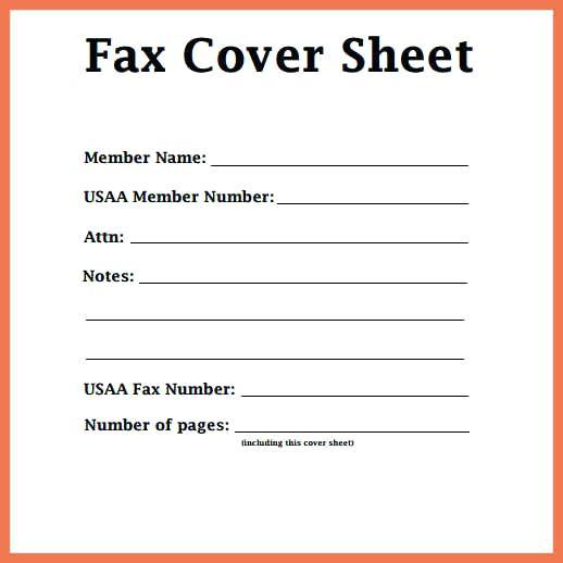 Printable Fax Cover Sheet PDF