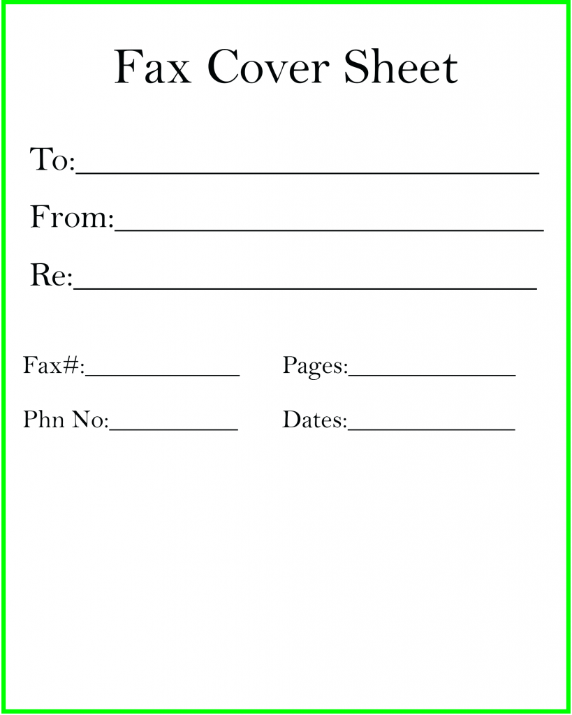 Printable Personal Fax Cover Sheet , Professional Fax Cover Sheet Template