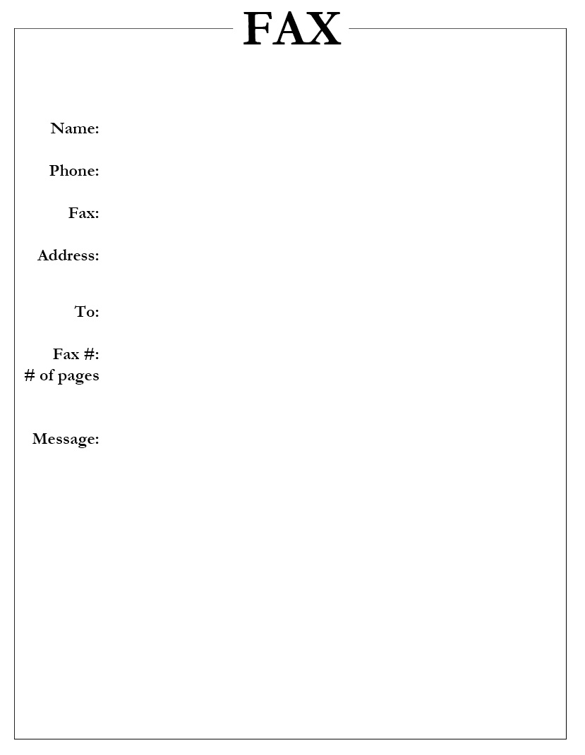 Free Confidential Fax Cover Sheet Printable
