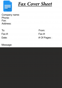 Free Fax Cover Sheet Google Docs