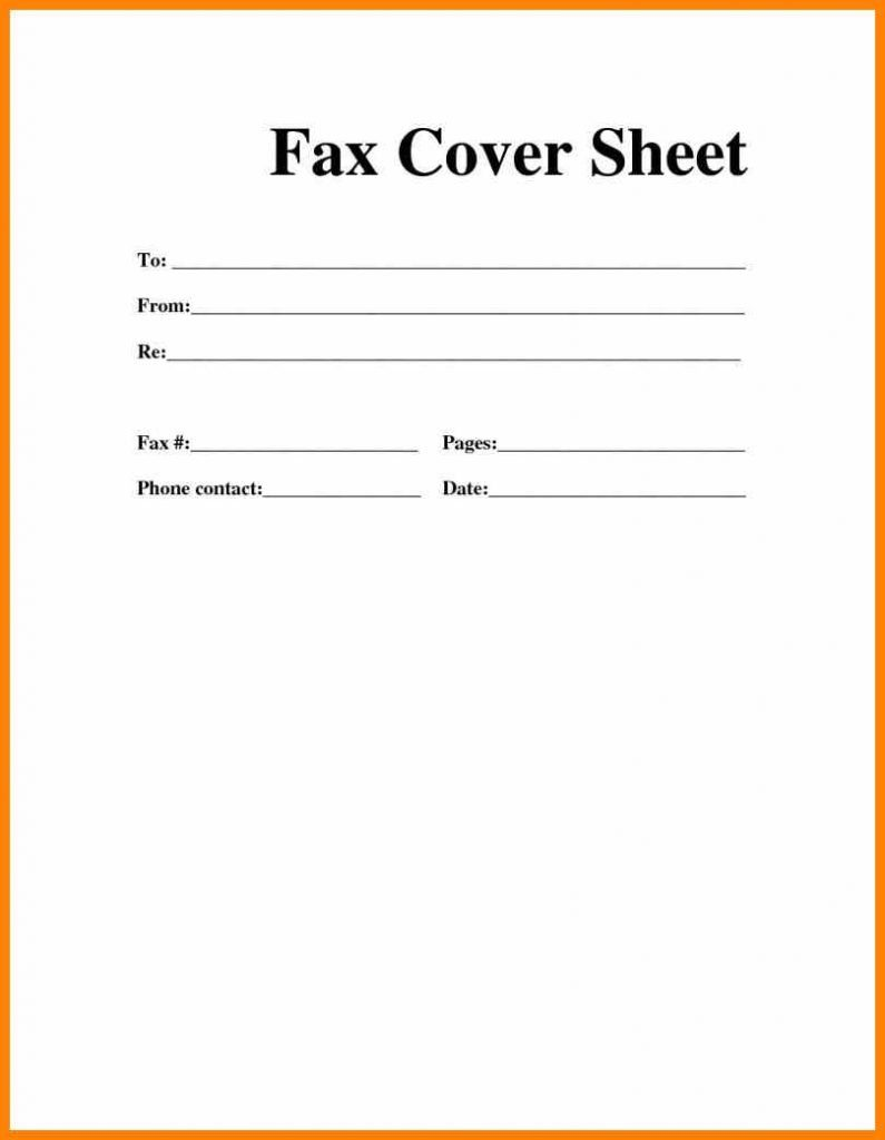 Microsoft Word Fax Cover Sheet