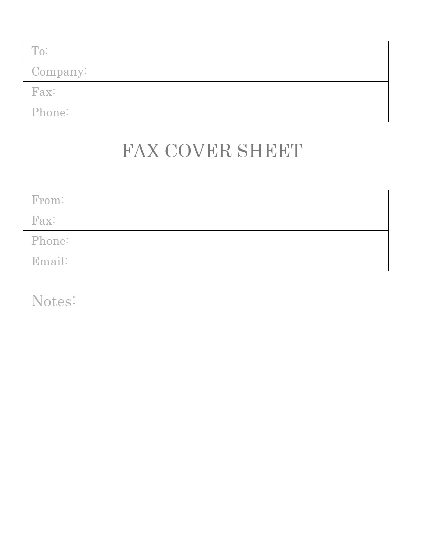 Personal Fax Cover Letter Free