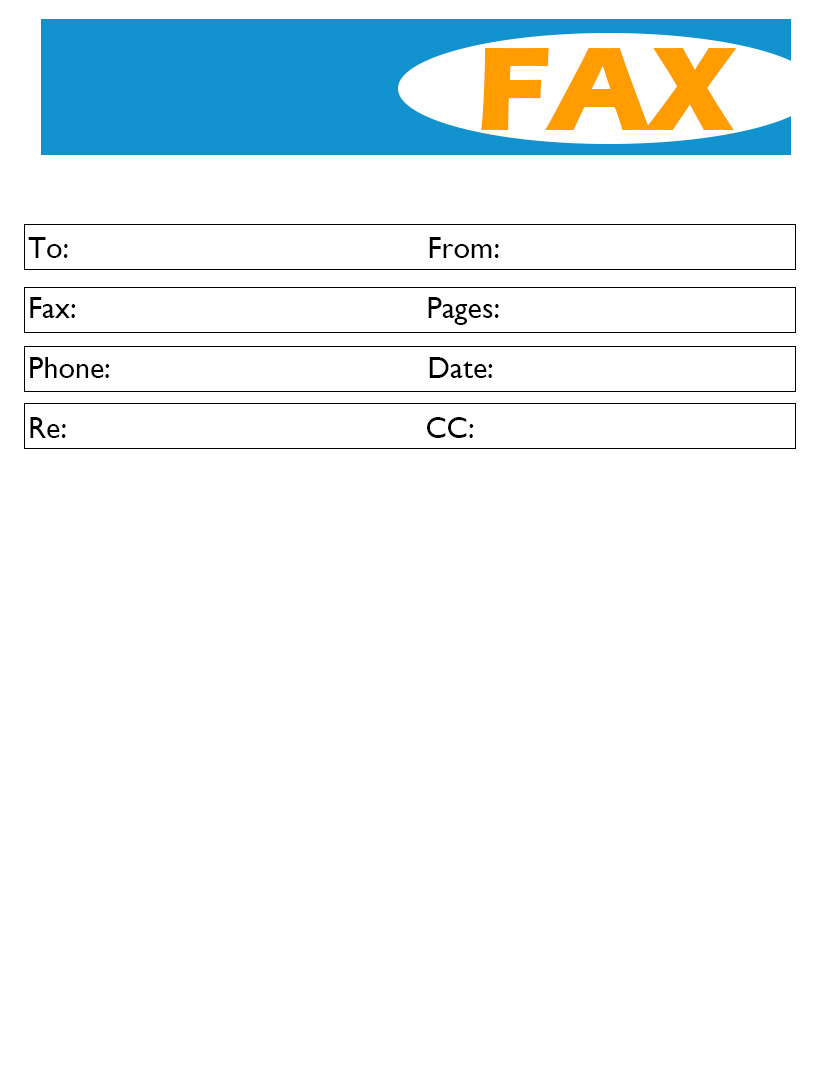 Printable Basic Fax Cover Sheet Download