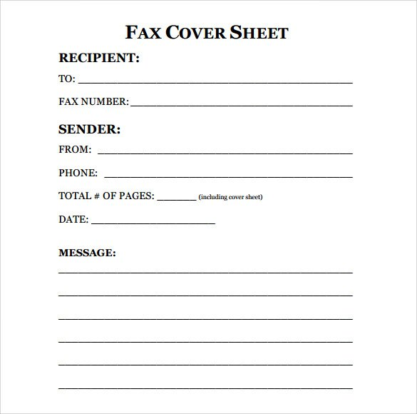 printable blank microsoft word fax cover sheet