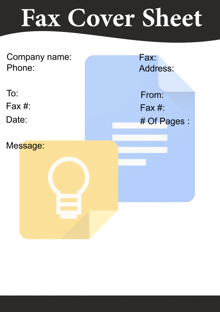 Google Docs Fax Cover Sheets Templates