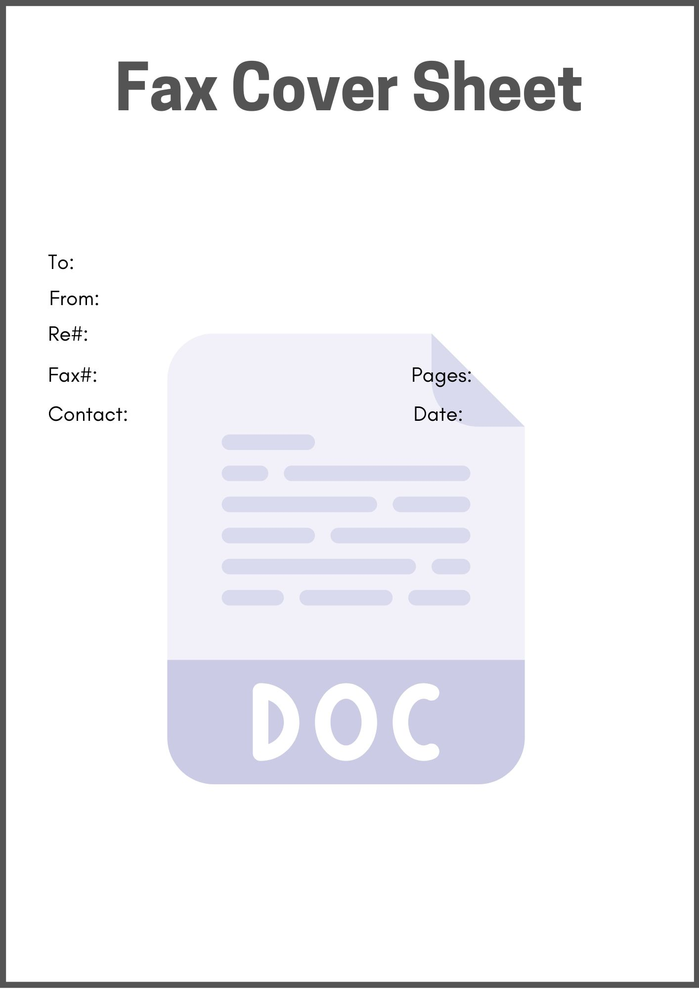 printable fax cover sheet google docs