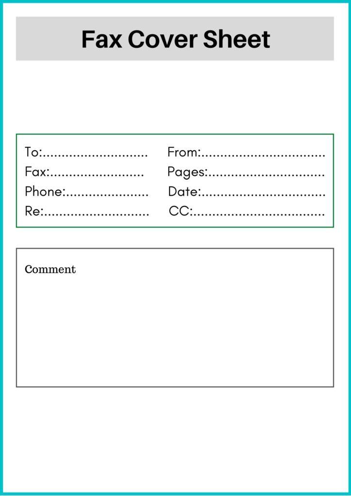 Generic fax cover sheet PDF