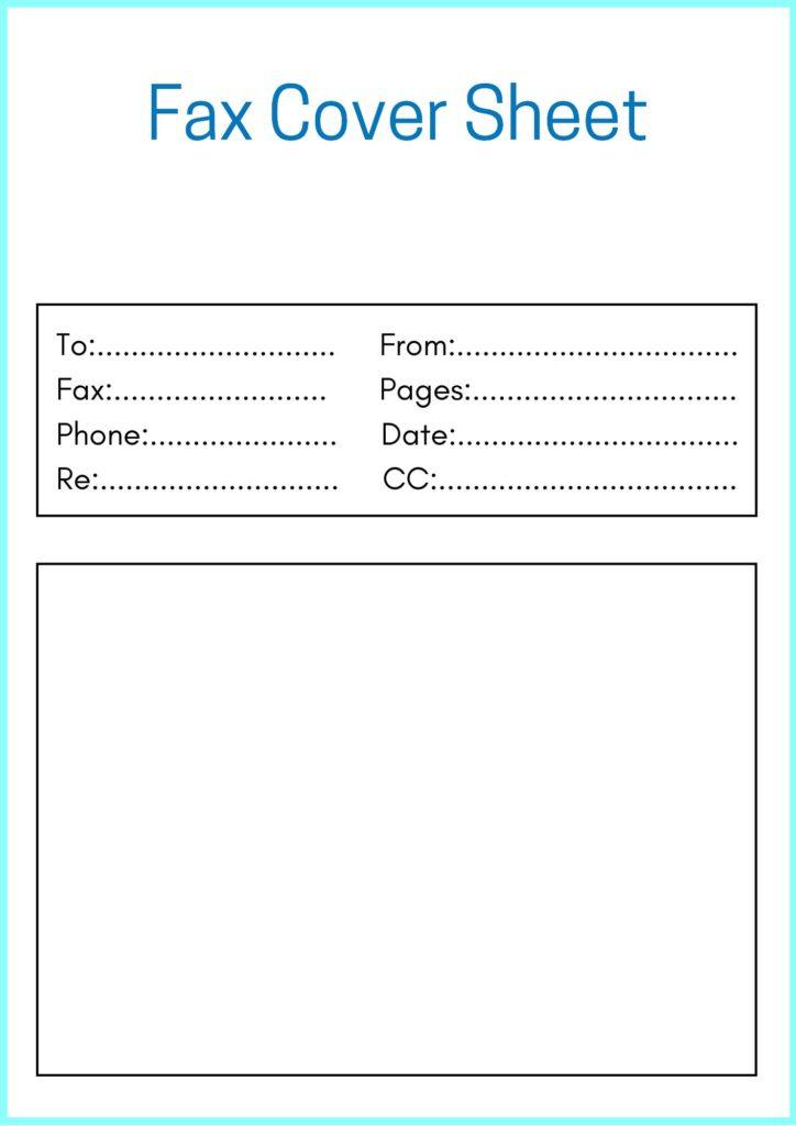 Printable Sample Fax Cover Sheet