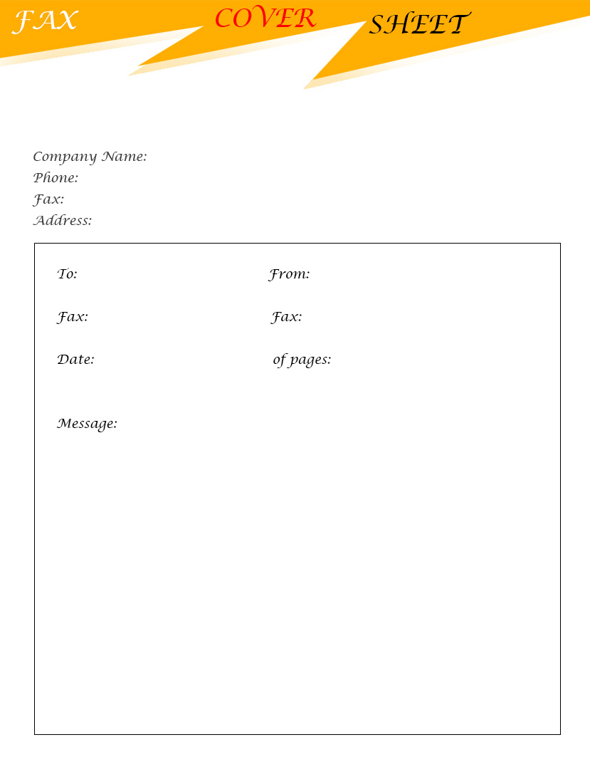 free printable generic fax cover sheet