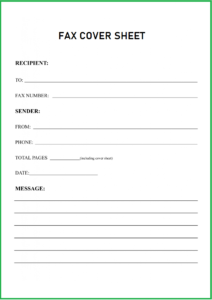 Confidential Medical Fax Cover Sheet