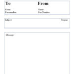 printable professional fax cover sheet